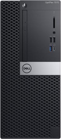 Купить ПК Dell Optiplex 7070 MT i5 9500 (3)/8Gb/1Tb 7.2k/RX 550 4Gb/DVDRW/Windows 10 Professional/GbitEth/260W/клавиатура/мышь/черный/серебристый
