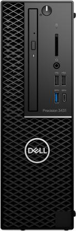 Купить ПК Dell Precision 3431 SFF Xeon E-2224 (3.4)/8Gb/1Tb 7.2k/SSD256Gb/P1000 4Gb/DVDRW/CR/Windows 10 Professional/GbitEth/260W/клавиатура/мышь/черный