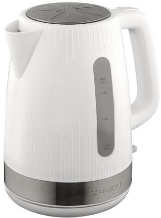 Чайник электрический Scarlett SC-EK18P50 1.7л. 2200Вт белый (корпус: пластик) цена и фото