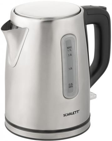 Чайник электрический Scarlett SC-EK21S91 1.7л. 2200Вт нержавеющая сталь (корпус: нержавеющая сталь) цена и фото