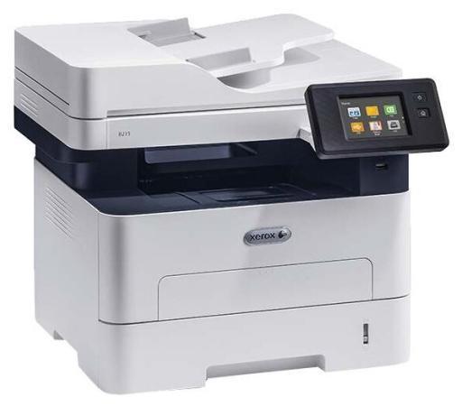 Фото - МФУ лазерный Xerox WorkCentre B215DNI# (B215V_DNI) A4 Duplex Net WiFi белый/синий мфу лазерный xerox workcentre wc3025ni a4 лазерный белый [3025v ni]