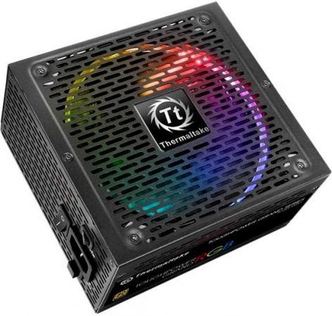 цена на Блок питания Thermaltake ATX 850W Toughpower Grand RGB Sync 80+ gold (24+4+4pin) APFC 140mm fan color LED 12xSATA Cab Manag RTL
