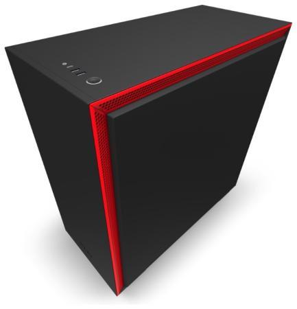 Корпус ATX NZXT H710 Без БП чёрный красный CA-H710B-BR