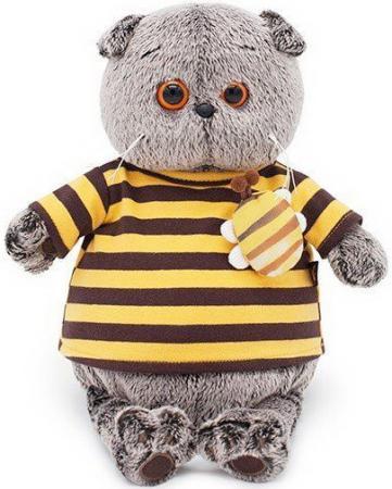Басик в полосатой футболке с пчелой 19 см