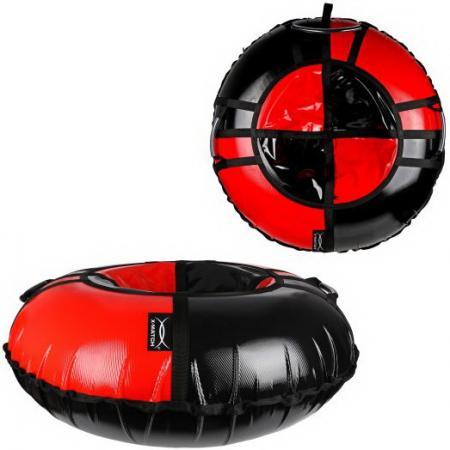Санки надувные X-Match ПВХ, D-100 см, черн-красный