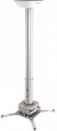 [PRG24A-W] Универсальный потолочный комплект Wize Pro PRG24A-W состоящий из крепления с микро регулировкой+штанги 46-61см +площадки к потолку для проектора,макс.расст. между крепеж.отверстиями 537 мм,наклон +/- 15°,поворот +/- 8°,вращение 360°,до 32 кг,б