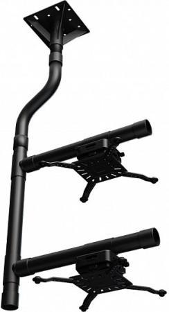 [PRTWIN] Крепление Wize Pro PRTWIN для двух, расположенных один над другим, максимальное расстояния между крепежными отверстиями 537 мм, наклон +/-15°, поворот +/- 8°, вращение 360°, до 32 кг. Custom! Требует сборки