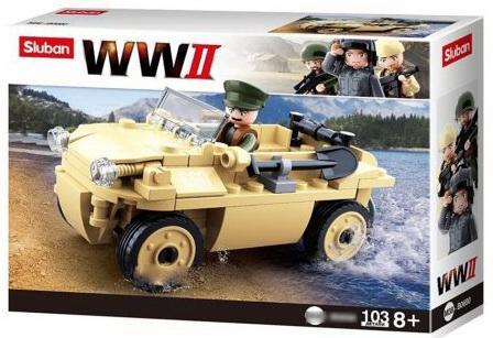 Конструктор SLUBAN Вторая мировая, Военный патруль 103 элемента