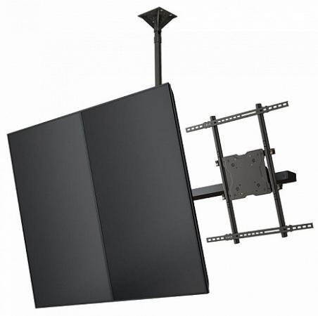 Фото - [CMP55] Модуль Wize Pro CMP55 для потолочного крепления для мультидисплейной системы в портретной ориентации для дисплеев 46- 55, VESA 400x400, наклон +15/-5°, до 68 кг, чeрн. huggies трусики подгузники huggies 5 mega pack для мальчиков 13 17 кг 48 шт