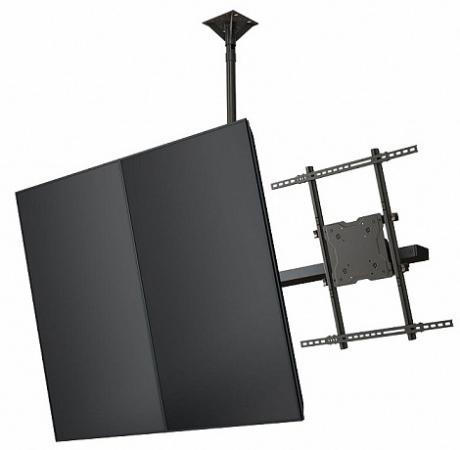 Фото - [CMP65] Модуль Wize CMP65 для потолочного крепления для мультидисплейной системы в портретной ориентации для дисплеев 60-65+, VESA 672x800, наклон 15°/5°, до 68 кг, чeрн. huggies трусики подгузники huggies 5 mega pack для мальчиков 13 17 кг 48 шт
