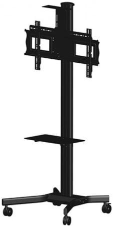 Фото - [MH63VC] Мобильная стойка для видеоконференций Wize MH63VC для дисплеев 37 63+, высота 183 см,верт. регулировка полки, кабельн. канал, наклон+15/-5°, поворот+/-6°, до 68 кг, Max VESA 723х501,крепл. для видеокамеры, черн. (5 мест) подушка alvitek подушка дольче пух перо 50 68 см