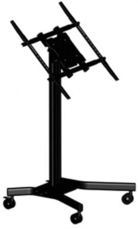 лучшая цена [MK65] Мобильная стойка Wize MK65 для дисплеев 37 65+, Max VESA 800х600, высота 116 см, наклон 75°, до 68 кг, кабельный канал,черн. (3 места)