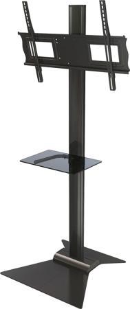 [S63] Напольная стойка Wize Pro S63 для дисплеев 37 63+, Max VESA 723х501, высота 174 см, вертикальная регулировка, регулируемые полки, кабель. канал, наклон +15/-5°, до 68 кг, черн. (4 места)