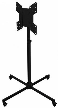 цена на [TS46] Складная напольная мобильная стойка Wize Pro TS46 для дисплеев 32 55+, Max VESA 400х400, регулируемая высота 100-164 см, наклон +/-15°, нагрузка до 45 кг, черн.(2 места)