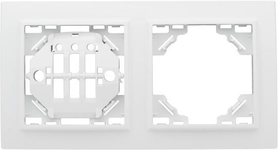 Фото - Рамка EKF Basic ERM-G-302-10 2-м минск горизонтальная бел. ekf eem g 303 10 лондон рамка 3 местная горизонтальная белая ekf proxima