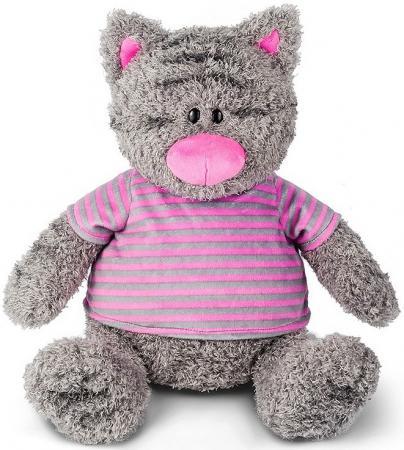 Мягкая игрушка Серый Кот в полосатой майке, 50 см