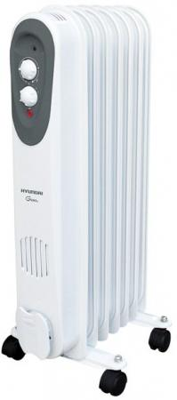 Масляный радиатор Hyundai H-HO-7-07-UI892, 7 секций, 1500 Вт., 3 режима, термостат, до 18 кв.м.