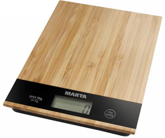 цена на Весы кухонные Marta MT-1639 бамбук