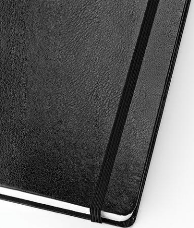 Бизнес-Блокнот А5, 100 л., твердая обложка, балакрон, на резинке, BV, Черный, 3-101/02 бизнес блокнот а5 100 л твердая обложка балакрон на резинке bv зеленый 3 101 03