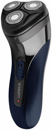 цена на Электробритва SCARLETT SC-SH65R55, 3 головки, аккумулятор, самозатачивающиеся лезвия, триммер, черная, SC - SH65R55