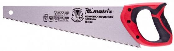 Ножовка по дереву, 400 мм, 7-8 TPI, зуб - 3D, каленый зуб, двухкомпонентная рукоятка// Matrix
