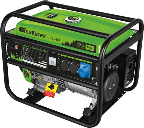 Генератор бензиновый БС-6500, 5,5 кВт, 230В, 4-х такт., 25 л, ручной стартер </div> <div class=