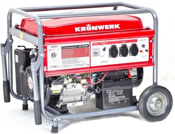 Генератор бензиновый LK 7500E, 6,5 кВт, 230 В, бак 25 л, электростартер// Kronwerk