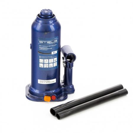 Домкрат гидравлический бутылочный, 6 т, h подъема 207-404 мм// Stels