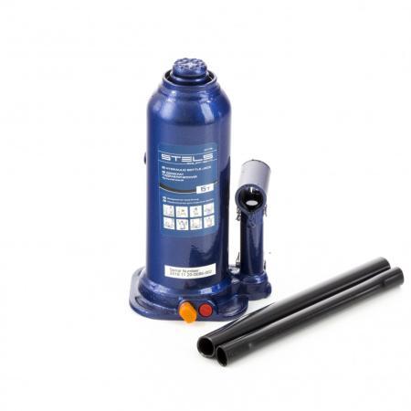 Домкрат гидравлический бутылочный, 5 т, h подъема 207–404 мм, в пласт. кейсе// Stels