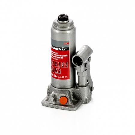 Домкрат гидравлический бутылочный, 2 т, h подъема 181–345 мм, в пласт. кейсе </div> <div class=