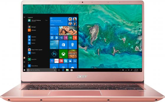Ноутбук Acer Swift 3 SF314-58-316M 14 1920x1080 Intel Core i3-10110U 256 Gb 8Gb Bluetooth 5.0 WiFi (802.11 b/g/n/ac/ax) Intel UHD Graphics розовый Windows 10 Home NX.HPSER.006