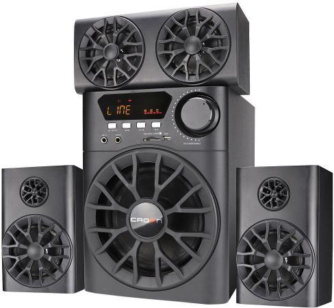 Акустическая система 3.1 CROWN CMBS-700 (МДФ, Bluetooth, 30W+10W*4 (RMS)=70W; приёмник FM; картридер; интерфейс USB; IR пульт, микрофонный усилитель, дополнительная фронтальная колонка)