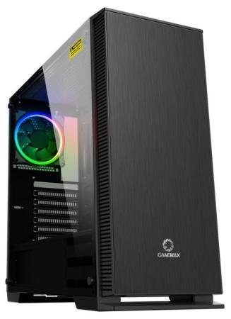 GameMax [Aurora] (ATX,Черн.,Зак.стекло,1*120мм RGB вент + контроллер, сет.фильтр, без БП)