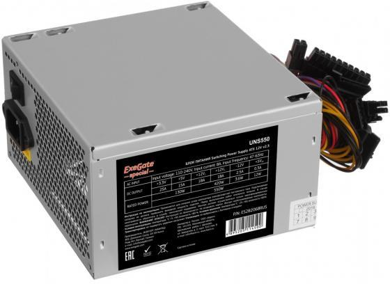Купить Exegate ES282068RUS Блок питания 550W ExeGate Special UNS550, ATX, 12cm fan, 24p+4p, 6/8p PCI-E, 3*SATA, 2*IDE, FDD