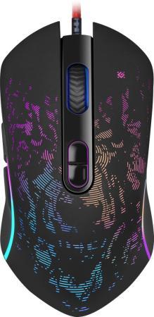 Фото - Мышь проводная игровая Witcher GM-990 RGB,7кнопок,3200dpi DEFENDER мышь defender witcher gm 990 52990 rgb 7кнопок 3200dpi
