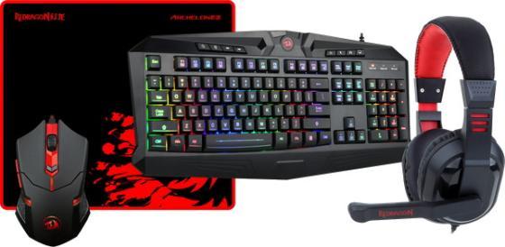 Игровой набор Redragon S101-BA Мышь + Клавиатура + Гарнитура + коврик недорого