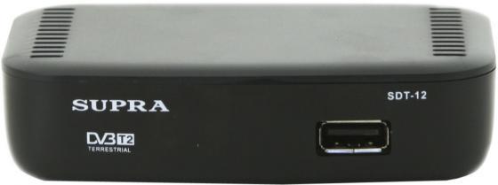цена на Ресивер DVB-T2 Supra SDT-12 черный
