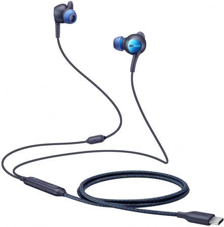 Гарнитура вкладыши Samsung EO-IC500 1.2м черный/синий проводные (в ушной раковине) гарнитура sennheiser pmx 686i sports вкладыши серый проводные