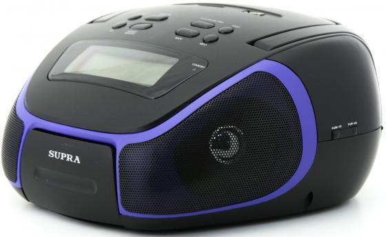Аудиомагнитола Supra BB-23MUS черный/синий 3Вт/MP3/FM(dig)/USB/SD supra bb 26mus