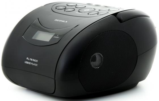 Аудиомагнитола Supra BB-24MUS черный 3Вт/MP3/FM(dig)/USB/SD supra bb 26mus