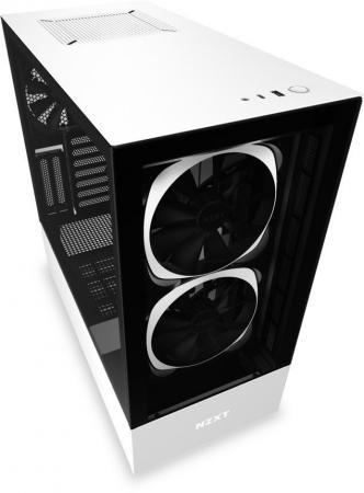 Корпус ATX NZXT H510 Elite Без БП чёрный белый CA-H510E-W1 корпус atx miditower nzxt h500i smart ca h500w bl black blue