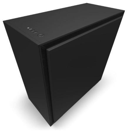 Корпус NZXT H710i CA-H710i-B1 черный без БП E-ATX 3x120mm 2xUSB3.0 1xUSB3.1 audio bott PSU корпус atx miditower nzxt h500i smart ca h500w bl black blue