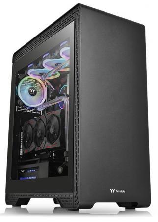 Корпус Thermaltake S500 TG черный без БП ATX 2xUSB2.0 2xUSB3.0 audio bott PSU корпус thermaltake h100 tg черный без бп atx 1x120mm 2xusb3 0 audio bott psu