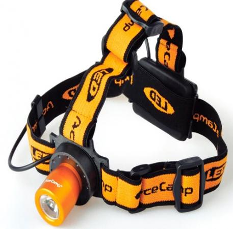 Фонарь налобный AceCamp Back light оранжевый/черный 1Вт лам.:светодиод. AAAx3 (1019) фонарь налобный acecamp extreme оранжевый черный 1вт лам светодиод aaax3 1035