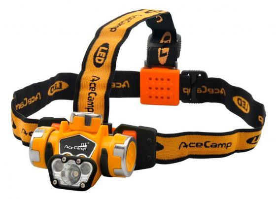 Фонарь налобный AceCamp Extreme оранжевый/черный 1Вт лам.:светодиод. AAAx3 (1035) фонарь налобный acecamp extreme оранжевый черный 1вт лам светодиод aaax3 1035