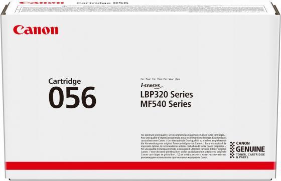 Фото - Картридж Canon 056 для MF543x/MF542x. Чёрный. 10 000 страниц. картридж canon 057 для mf449x mf446x mf445dw mf443dw lbp225x lbp226dw lbp223dw чёрный 3100 страниц