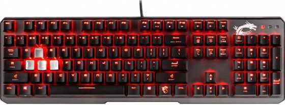 Клавиатура проводная MSI Vigor GK60 USB черный цена и фото