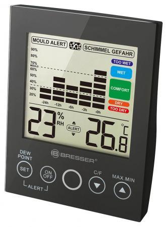 Гигрометр BRESSER Mould Alert, термометр, график изменений за 24 часа, черный, 73274