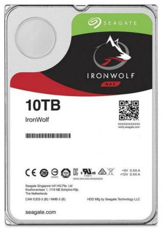 Купить Накопитель на жестком магнитном диске Seagate Жесткий диск HDD 10Tb Seagate IronWolf ST10000VN0008 3.5 SATA 6Gb/s 256Mb 7200rpm для NAS