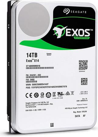 Купить Накопитель на жестком магнитном диске Seagate Жесткий диск HDD 14Tb Seagate Exos X14 ST14000NM0018 3.5 SATA 6Gb/s 256Mb 7200rpm